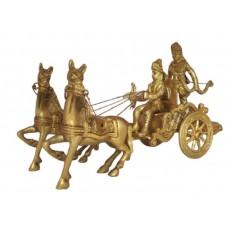 Brass Chariot Idol Lord Krishna