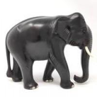 Wooden Elephant Statue - Mahogany Wood