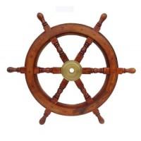 Wooden Ship Wheel Wall Hanging Showpiece